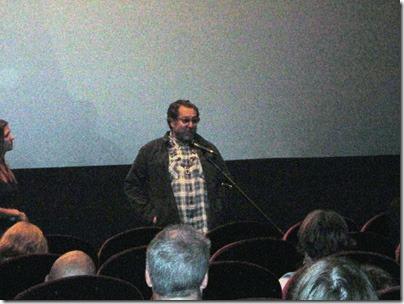 """Джулиан Шнабель (Julian Schnabel) отвечает на вопросы зрителей после показа его последнего фильма """"Мираль (Miral)"""". 14 сентября 2010 г."""