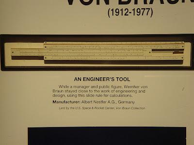 Von Brauns slide rule
