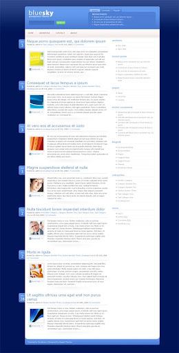 Template Premium Wordpress Bluesky