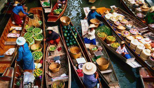 Plovoucí trhy, Bangkok