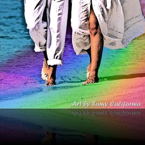 caminando sull arcobaleno