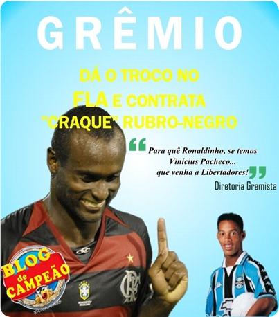 Diretoria Gremista apresenta reforço depois de perder Ronaldinho para o flamengo