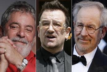 Lula, Bono e Spielberg os escolhidos do ex-presidente da União Soviética. Foto Reuters