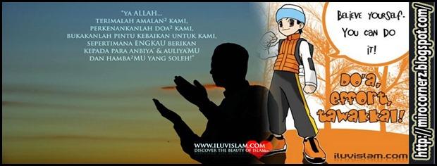 usaha, doa dan kesabaran