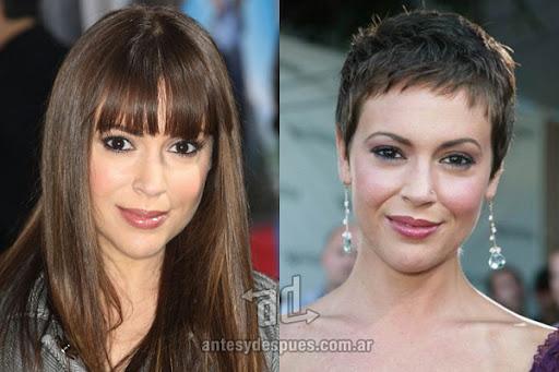 Antes y despues de Alissa Milano - Corte de pelo, nuevo look