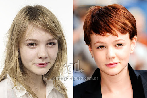 Antes y despues de Carey Mulligan - Corte de pelo, nuevo look