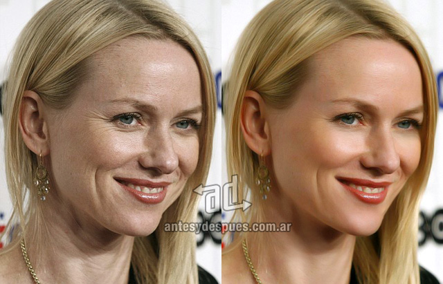 Naomi Watts sin Photoshop