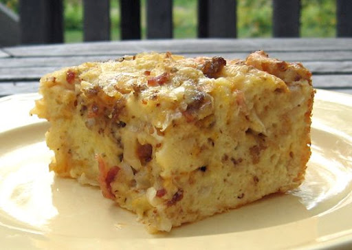 Short Stop: Savory Croissant Breakfast Pudding