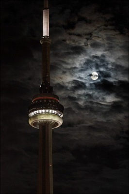 cn tower night