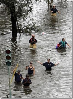... Katrina devastates Louisiana -- like Nero fiddling while Rome burned.