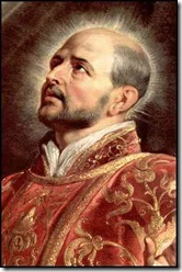 St. Ignatius of Loyola: Look him up, you'll see how he fits with this reading ;)