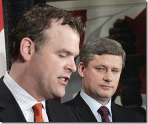 John Baird and Prime Minister Stephen Harper