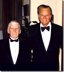 Sherwood Wirt with Billy Graham