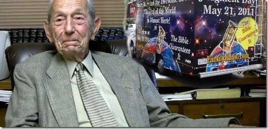 Harold Camping has once again predicted when Christ will return and the world end, May 21