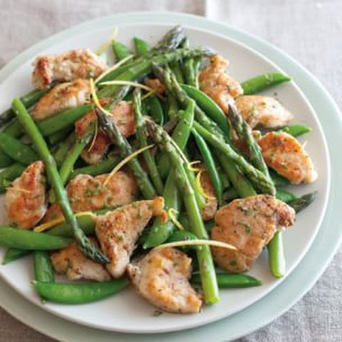 Chicken Sauté with Sugar Snaps and Asparagus