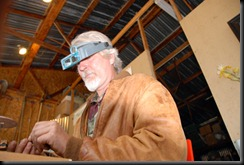 Doug Horton at work on a piece of jewelry.