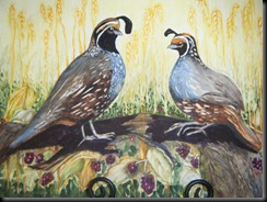 Joanie Adam's Quail on Aquabord