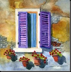 Purple Shutters, Cortona