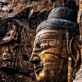 by Adeline Tan - Buildings & Architecture Statues & Monuments ( statue, yungang grottoes, datong, unesco, shanxi, china,  )