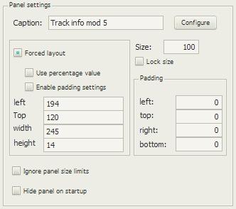 Track info mod 5の配置