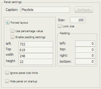 Playlists Dropdownの配置