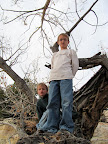 Bradley and Michael in a tree