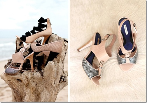 Rebecca Minkoff Launches Shoes Spring 2011 Silver Snake Leather Stacked Heels
