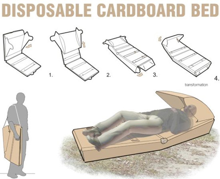 Disposable Cardboard Bed 2
