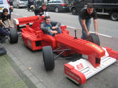LEGO Ferrari Formula 1 Car Modern Wallpaper