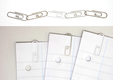 Alphabetical Paperclips