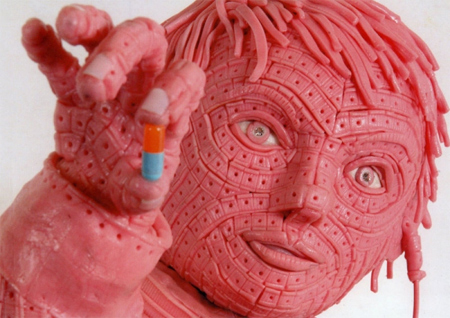 Pink Chewing Gum Sculptures 2