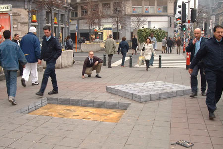 3D Sidewalk Chalk Art 2