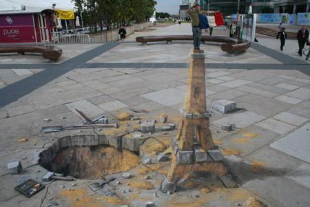 3D Sidewalk Chalk Art 6