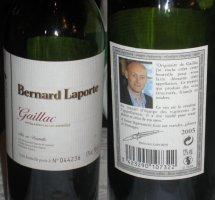 Botella Vino Bernard Laporte