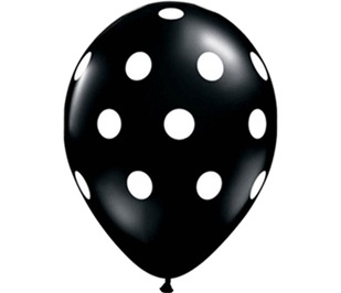 Balloon Black Dots med