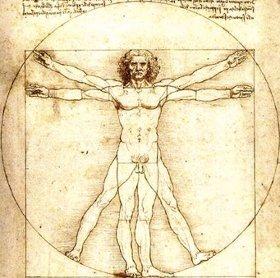 El hombre de Vitruvio, Leonardo da Vinci, 1487