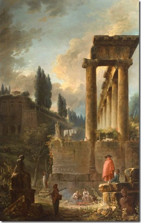 painting of ruins