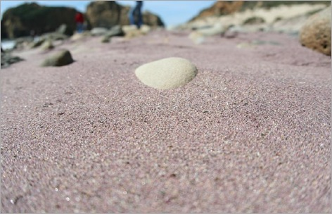 Purple sand, Pfeiffer Beach, Big Sur, California