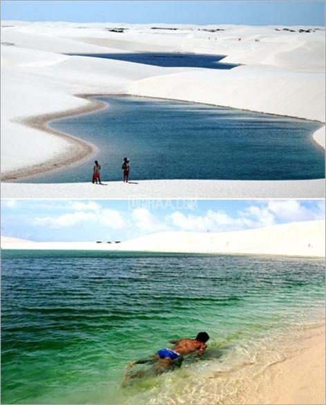 Lencois Maranhenses a desert with lagoons