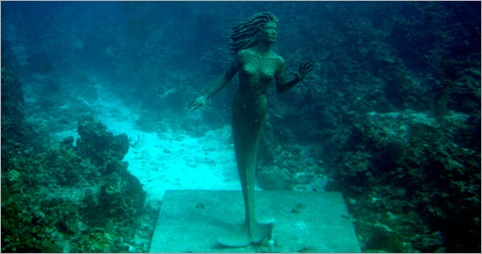 Grand Cayman 9ft Bronze Mermaid