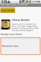 Screenshot of Beer Cellar Lite