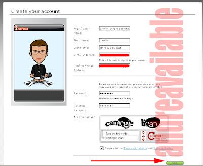 cara membuat avatar sendiri, registrasi avatar,langkah membuat avatar, cara mudah membuat avatar, cara klik avatar, fooz avatar, fooz membuat avatar