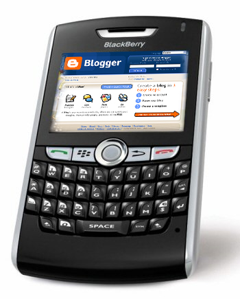 blogger lewat blackberry