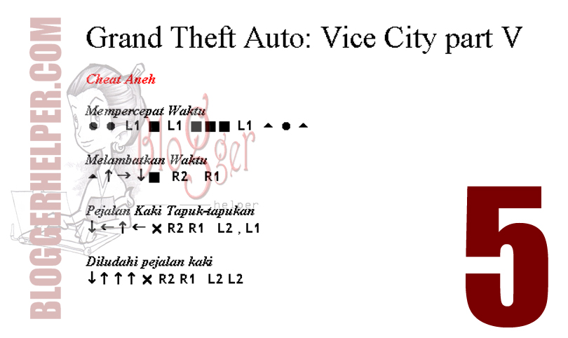 GTA Vice City Cheats PS2
