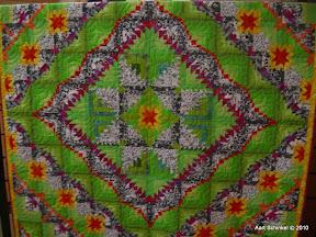Hierboven de quilt genaamd Greetje!