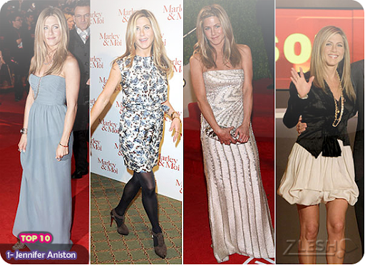 1- Jennifer Aniston