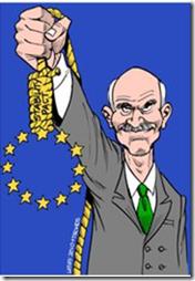 Papandreou brandit une corde