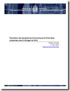 Perspectives économiques et financières présentées dans le Budget de 2010