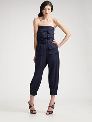 Alice and Olivia cargo jumpsuit 396.00