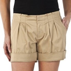 mossimo sateen pleated short